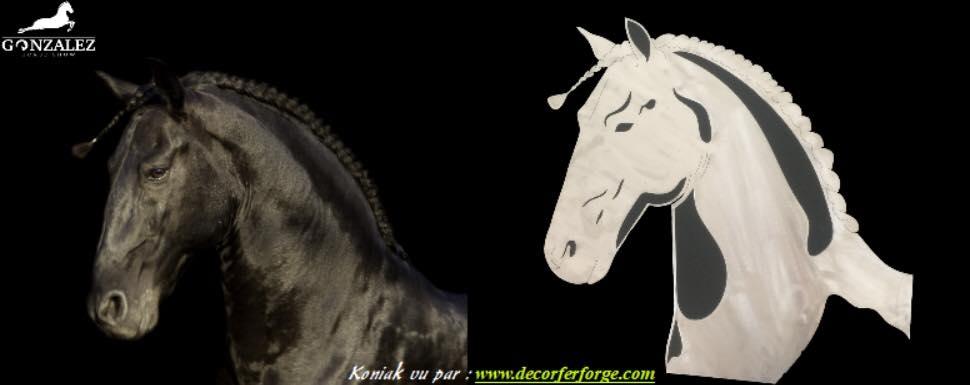 A la demande de notre client nous avons reproduit à partir d'une photo une tète de cheval en métal pour le compte de notre client les écuries gonzalez   . Localisation Istres