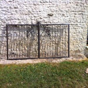 Photographie d'un Portail en fer forgé
