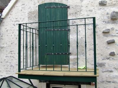 Photographie d'une rampes ou d'un Garde-corps en fer forgé