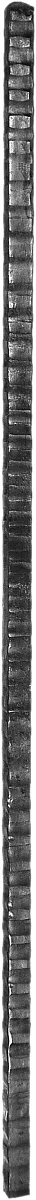Poteau H 1200 en carré de 25 martelé