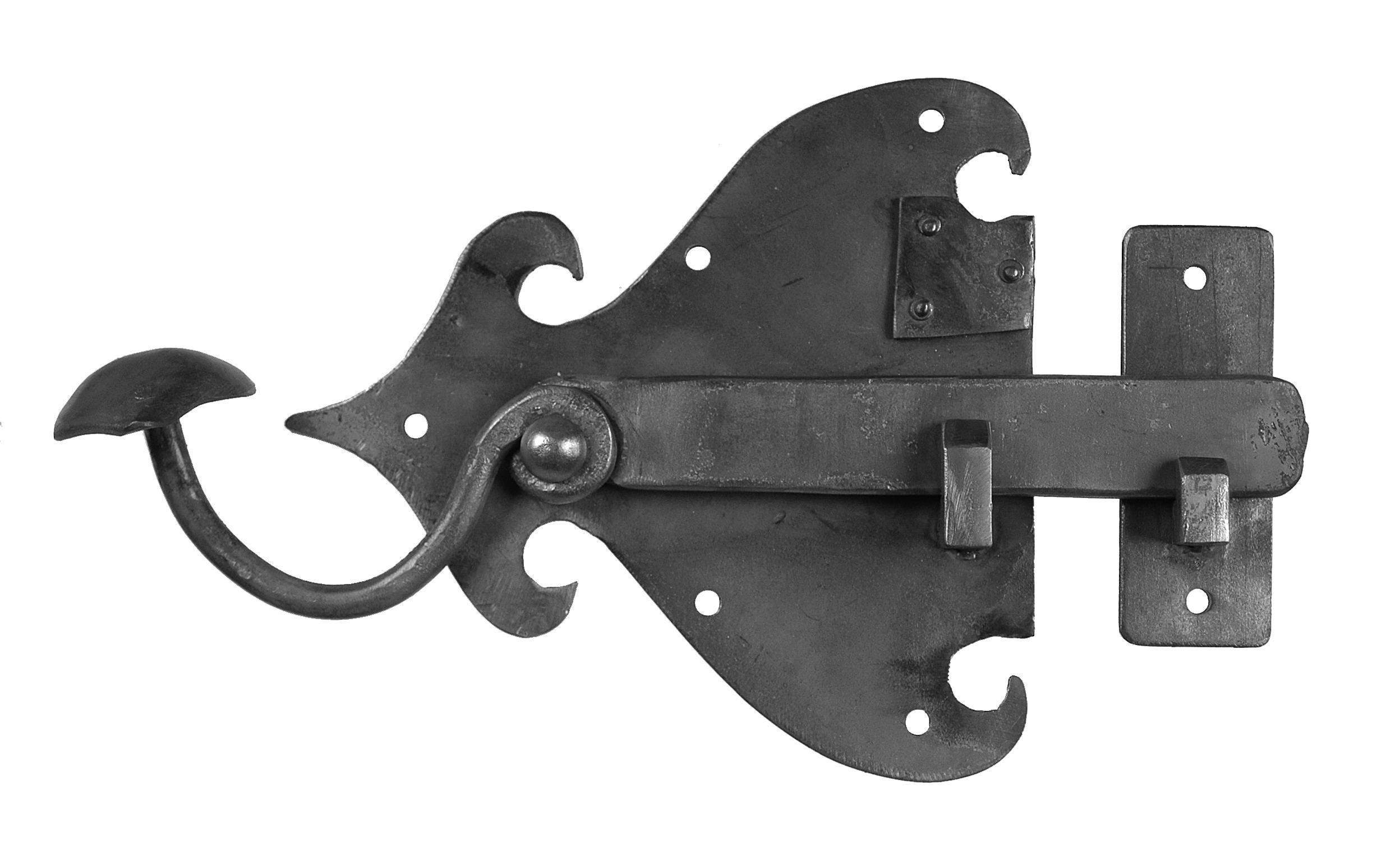 Verrou de style m di val chez d co fer forg - Porte bois et fer forge ...