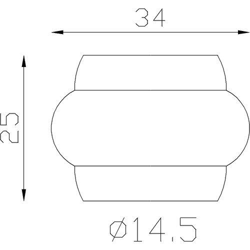 Garniture pour barreaux Ø14,5