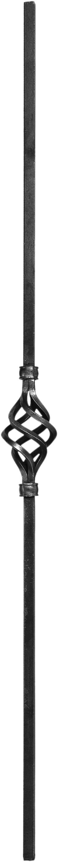 Barreaux en carré de 14 simple torsade H1000