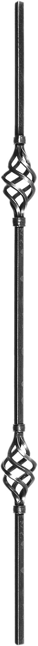 Barreaux en carré de 14 double torsade H1000