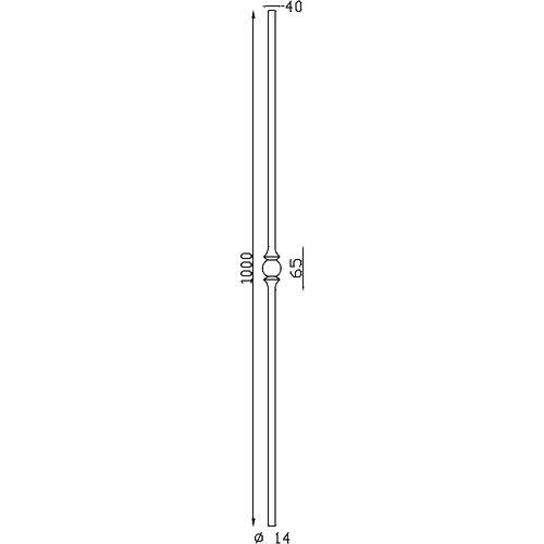 Barreaux rond à facettes Ø14 H1000