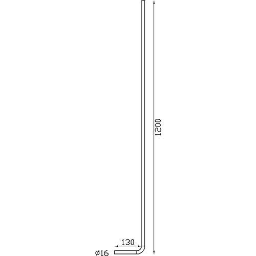 Barreaux rond Ø16 H1200