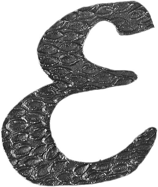 Lettre E en fer forgé