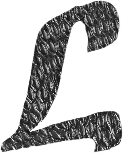Lettre L en fer forgé