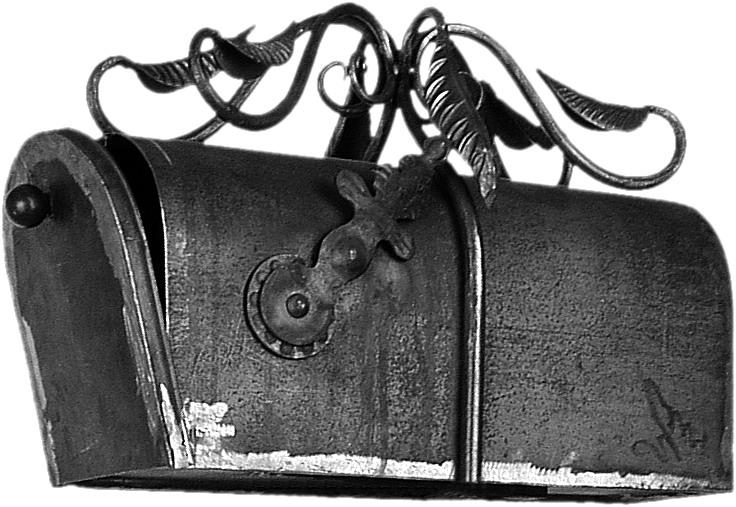 Boite aux lettres en fer forgé