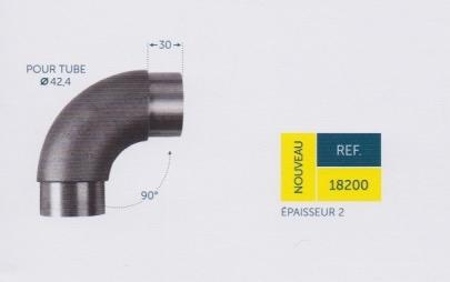 Coude acier pour tube diam 42,4 mm - 90 °