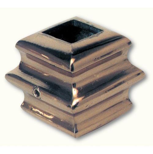 Garniture en laiton pour barreaux carré de 16