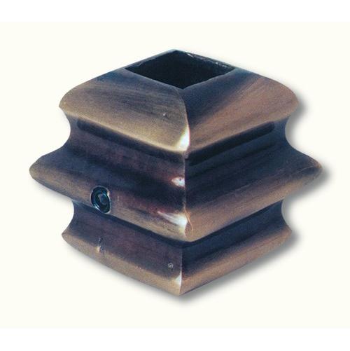 Garniture en laiton pour barreaux carré de 14