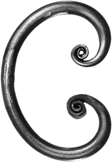 Volute en C fer rond 12 mm