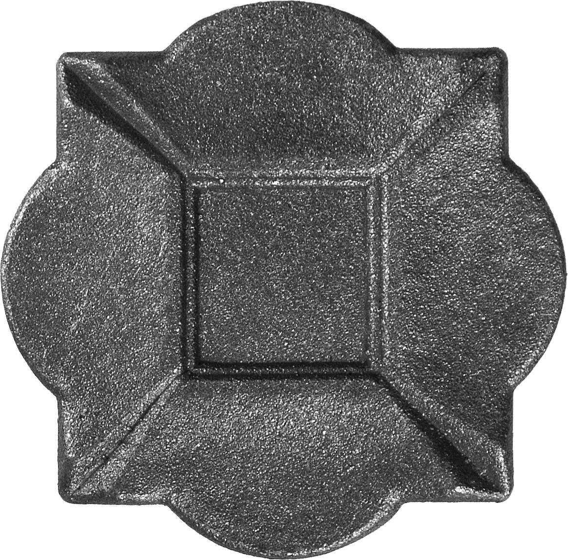 Platine pour poteau de d part 100x100 chez d co fer forg for Calcul metre carre d une piece