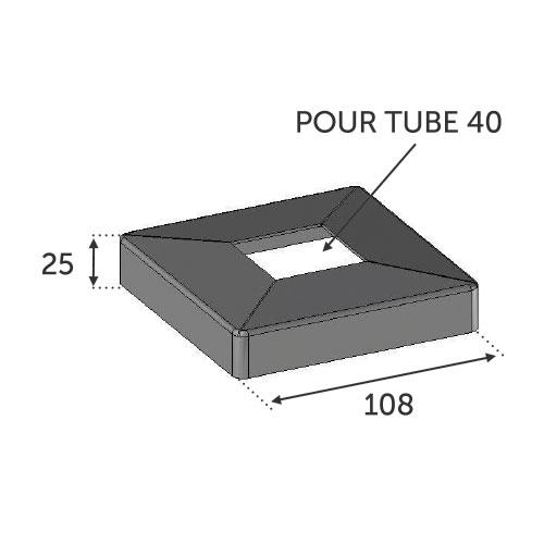 Cache Platine 100X100 - pour Tube 40X40