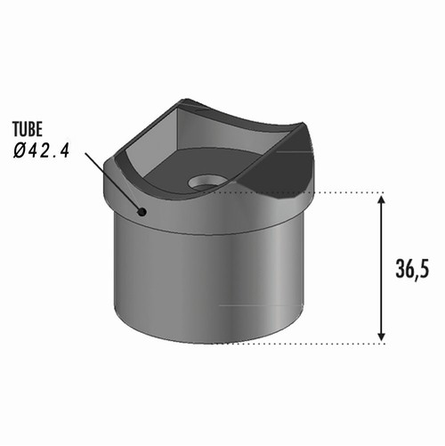 Support main courante Tube Ø42.4