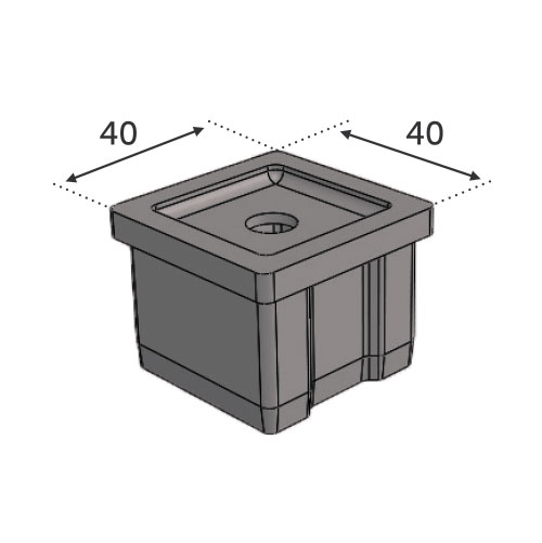 Support main courante pour Tube 40x40