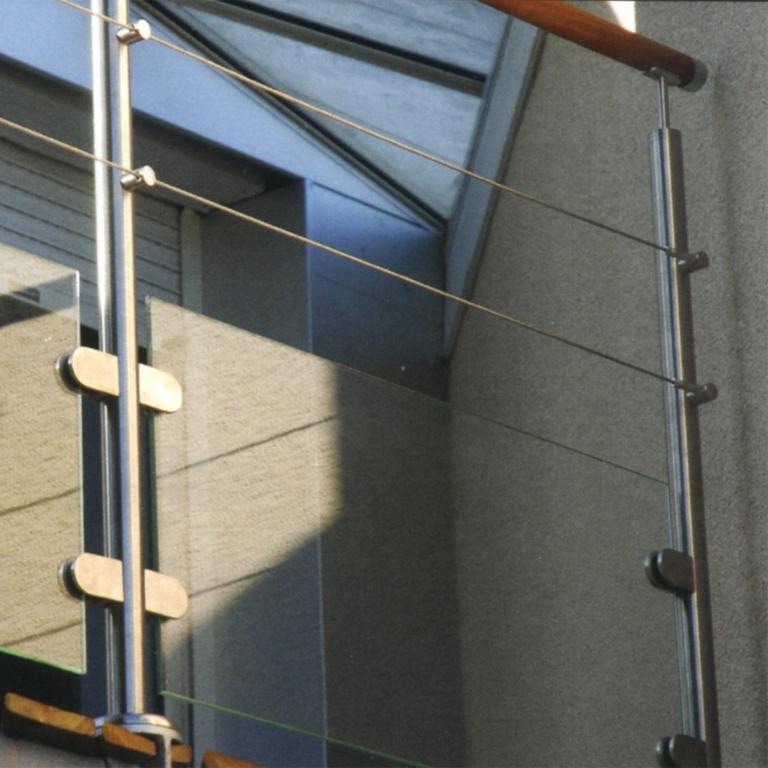 Poteau départ GAUCHE inox 316 pour cable et verre