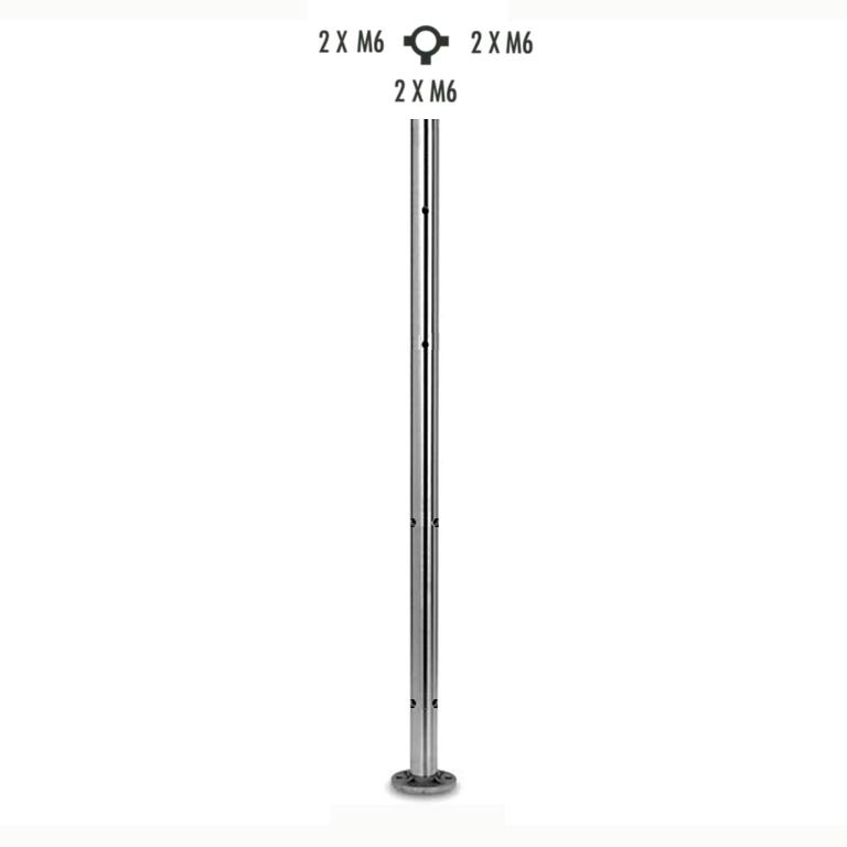 Poteau inox 316 h970mm pour cable et verre