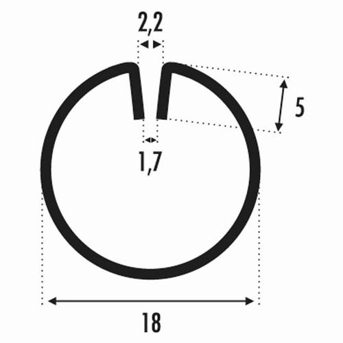 Profil encadrement Ø18 pour tole 3M