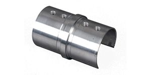 Connecteur droit Tube Ø42.4 ép 1.5mm pour verre