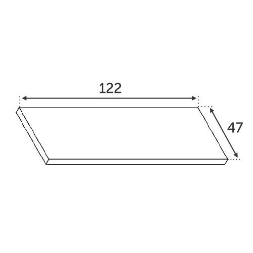 Finition INOX pour 30850 - 123x47