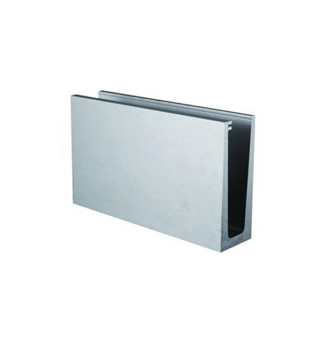 Profil aluminium fixation sol pour verre 12.76m