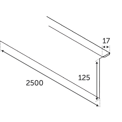 Revetement INOX frontal pour 30855 verre de 12.76