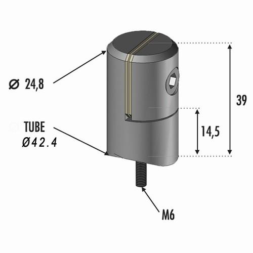 Pince à tole de 1,5 à 4mm pour tube Ø42,4
