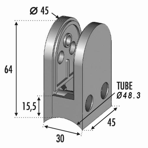 Pince à verre pour tube Ø48,3