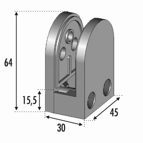 Pince à verre sur plat verre 8 mm a 12,76 mm