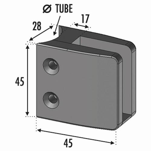 Pince à verre pour tube Ø42,4 Inox 316