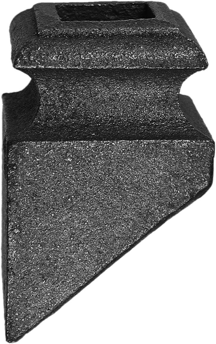 Platine d'angle pour barreau carré de 12