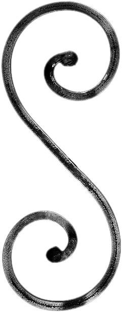 Volute fintion noyaux carré 12 mm