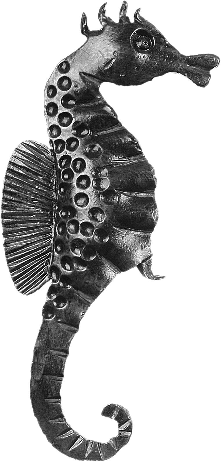 Hippocampe en fer forgé type gauche