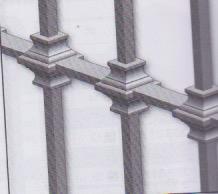 Garniture pour barreaux carré de 14