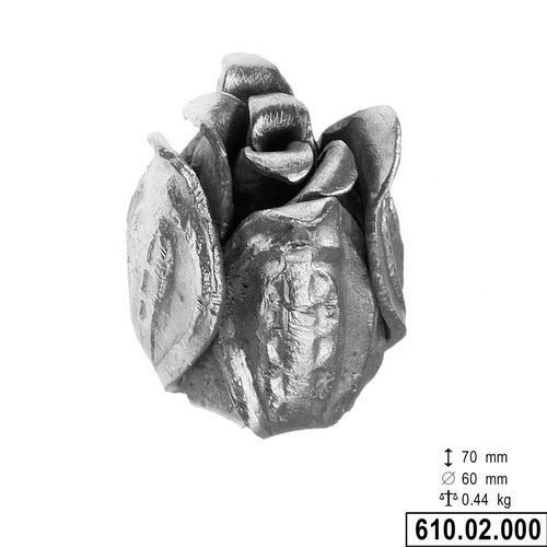 Décor rose H70 Ø60