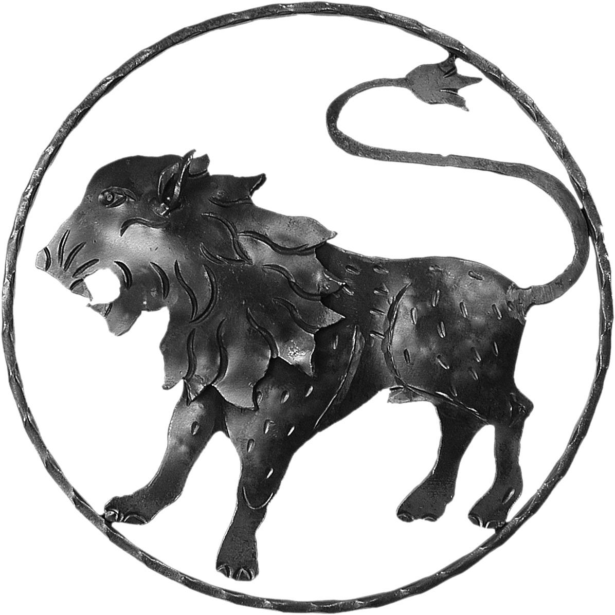 Lion en fer forgé