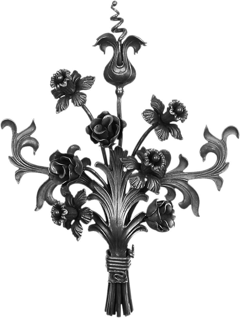 bouquet de fleur 520x400 chez d co fer forg. Black Bedroom Furniture Sets. Home Design Ideas