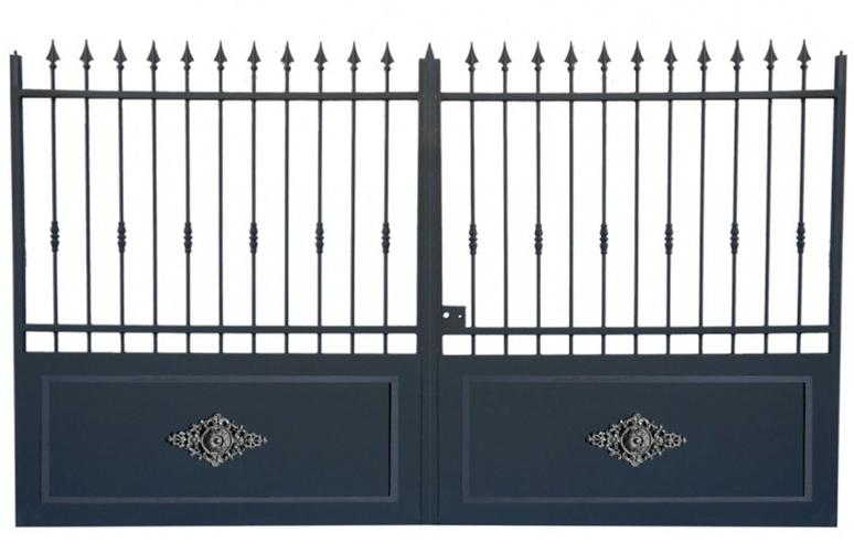 portail coulissant mod le alpilles 4mx2m20 chez d co fer forg. Black Bedroom Furniture Sets. Home Design Ideas