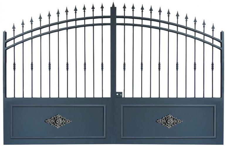 portail coulissant mod le provence 4m chez d co fer forg. Black Bedroom Furniture Sets. Home Design Ideas