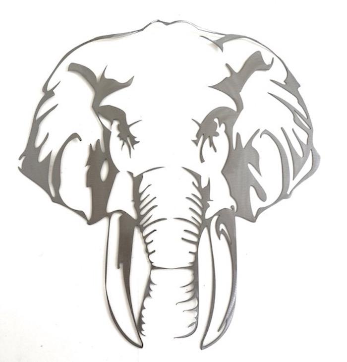 Décor métal Elephant