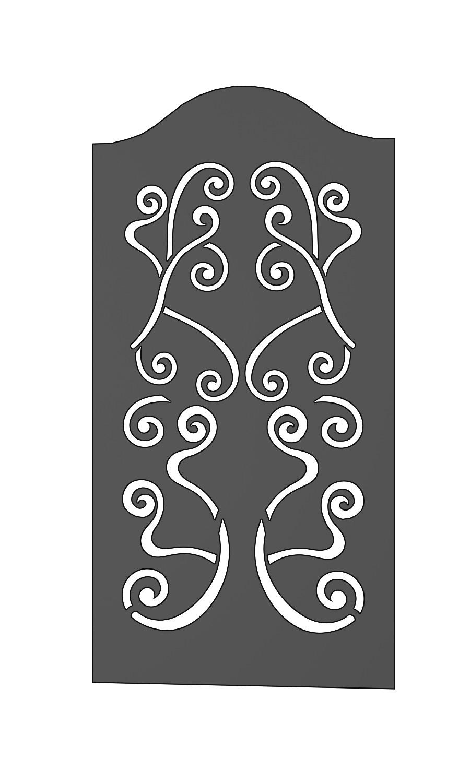 Panneau 1590X800 pour porte ou portail