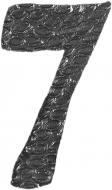 Chiffre 7 en fer forgé