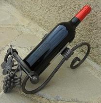 Porte bouteille en fer forgé