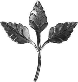 Décor 3 feuilles fer forgé