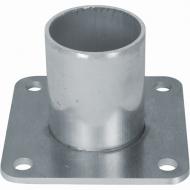 Fixation basse en alu pour tube diam 100 mm