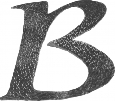Lettre B en fer forgé