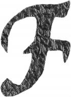 Lettre F en fer forgé