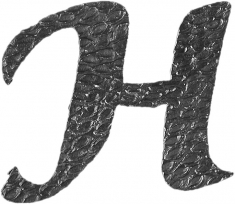 Lettre H en fer forgé